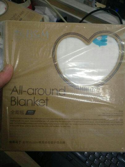伯斯马丁(BERNICE&MARTIN) 伯斯马丁婴儿毯1条装muslin棉纱布包巾春夏 摇滚明星-红 晒单图