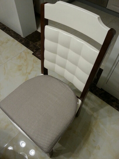硬质棉坐垫椅垫 餐桌椅子坐垫 梯形温莎椅垫 绿锚马蹄垫 41*45cm 晒单图