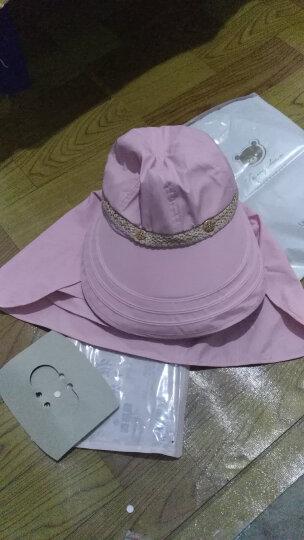 琛邦帽子女夏天遮阳防晒帽户外遮脸太阳帽可折叠大沿空顶帽旅游凉帽 米白色 晒单图