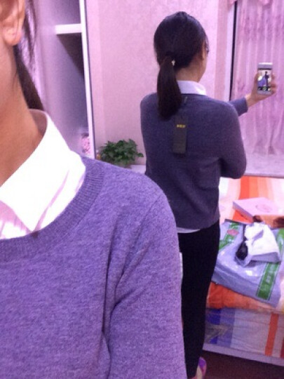 雅鹿羊毛衫女套头圆领长袖毛衣基础打底衫针织衫女 紫红 I 高领堆堆领 170/XL 晒单图