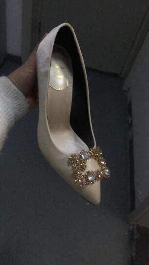 zuoanxb 秀禾服婚鞋女2019新款结婚鞋子细跟婚纱鞋香槟色新娘鞋红色高跟鞋 Q 红色平底 38 晒单图