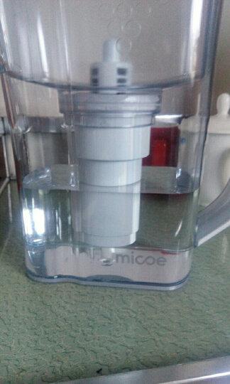四季沐歌(MICOE) 净水壶家用滤水壶进口活性炭可换芯YCZ-QT12-M069净水器 净水壶 晒单图