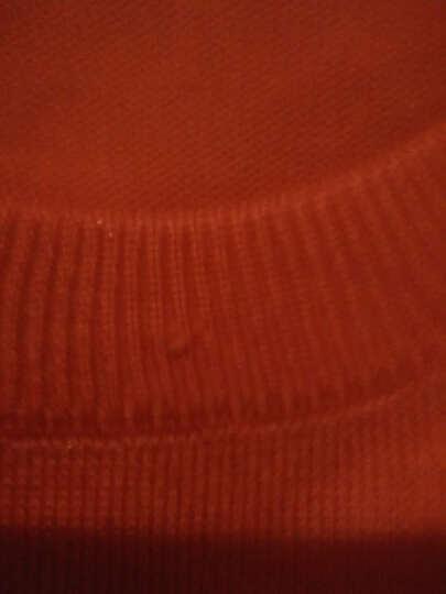 晞薇 针织衫女2018秋冬新品中长款毛衣女套头百搭打底衫保暖上衣 Z107 橘色 XL 晒单图