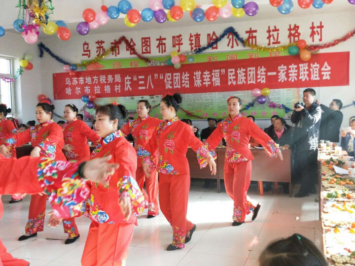 新款秧歌服装舞蹈演出服女腰鼓扇子舞广场舞民族表演服中老年 红色 XXL 晒单图