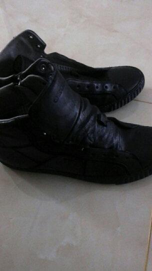 GEOX/健乐士男鞋运动休闲低帮系带牛皮革透气鞋U34A5D 黑色C9999 42 晒单图