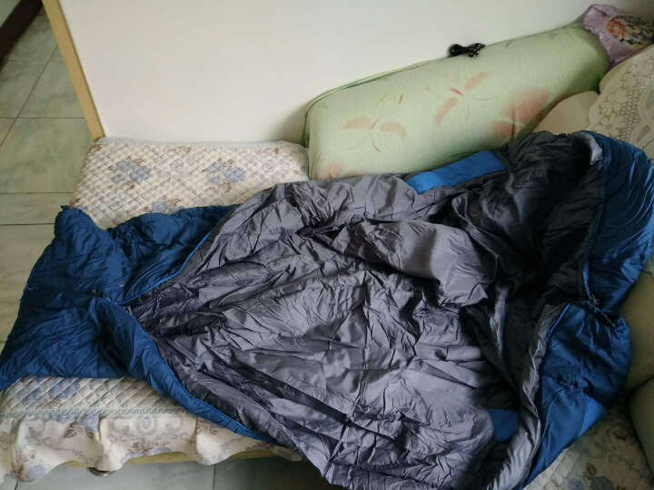 探路者秋冬户外睡袋男女便携成人旅行野营保暖棉睡袋ZECF90847 蓝色 200*80cm 晒单图
