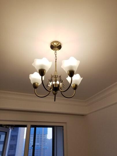 飞利浦(PHILIPS) 吊灯客厅餐厅卧室欧式 美式铁艺北欧简欧创意艺术复古吊灯 白光 【两室一厅A】铜铃套餐【送9WLED球泡18支】 晒单图