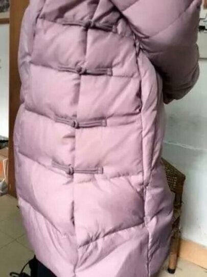 佑琴羽绒服女中长款2017冬季就新款复古中国风百搭气质修身气质外套 红色 XXL 晒单图