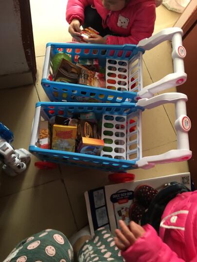 贝恩施(beiens)儿童益智玩具 过家家购物手推车水果蔬菜m890蓝(新老包装随机发货) 晒单图