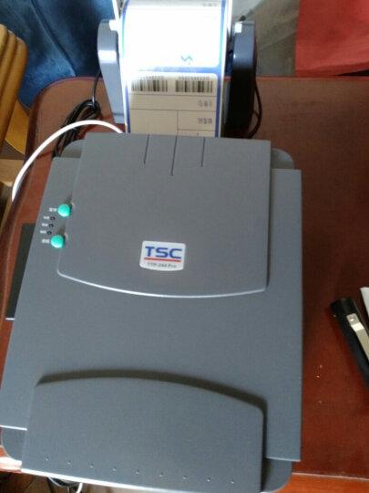TSC TTP-244 Pro条码打印机二维码标签机 不干胶合格证热敏超市价签标洗水唛水洗标服装吊牌 台半244pro(赠2卷碳带+1卷标签纸) 晒单图