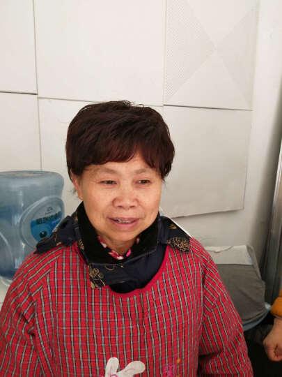 魅丝黛儿 假发 女短发中老年假发 短卷发妈妈真发 蓬松逼真假发套 钻石顶心-深棕色 晒单图