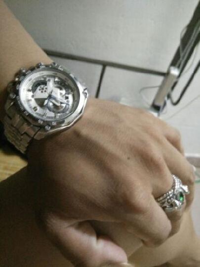 S925银饰男士饰品首饰指环王魔戒阿拉贡巴拉赫之戒泰银戒指男 镶蓝色宝石 20号周长60内径19.2mm 晒单图