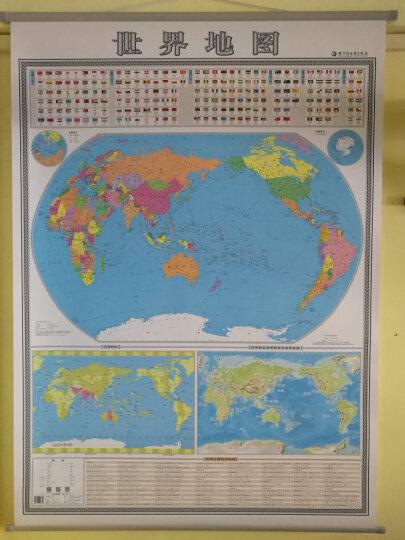 2019 竖版世界地图挂图 1.4*1米 国家旗帜 时区地理景观 旅游资源 知识集锦挂绳 晒单图