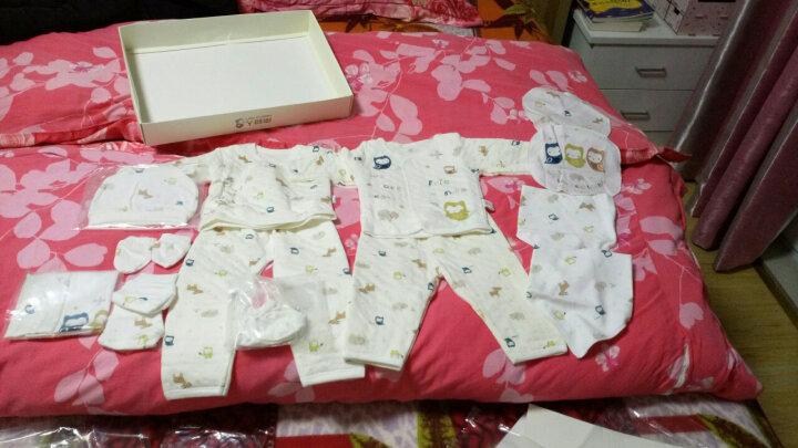 南极人(Nanjiren) 南极人婴儿衣服新生儿礼盒套装满月礼盒0-6月宝宝内衣 秋冬-猫头鹰卡其 15件套 52-66cm(0-6个月) 晒单图