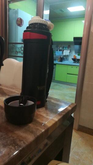 YOULET 德国 保温壶保温瓶家用304不锈钢真空保温壶旅行壶车载便携水壶户外大容量 黑色2.2L 晒单图