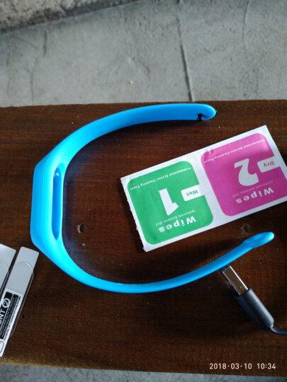 智能手环 运动手环男女计步器心率睡眠监测来电提醒华为VIVO OPPO苹果三星通用 湖蓝色 晒单图