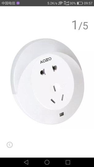 奥朵家饰(AOZZO)小夜灯LED月牙 墙面插座转换器二合一WL40041 功率3W 晒单图