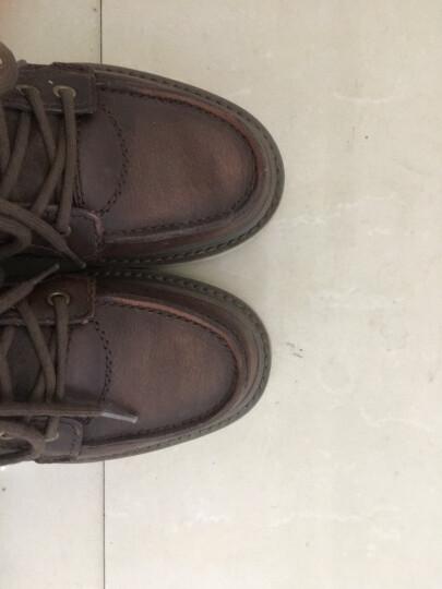 CAT卡特男鞋经典工装靴高帮休闲鞋马丁靴粗犷P712947G3EDR01 棕色1 39 晒单图