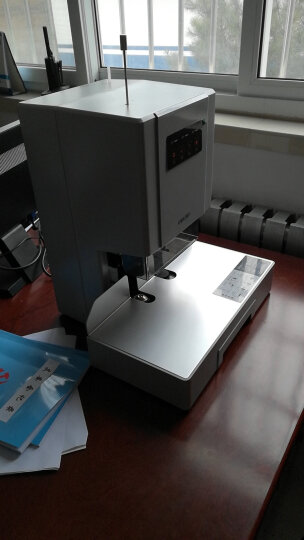 得力(deli)33480 自动财务凭证装订机 激光定位电动档案打孔机 晒单图