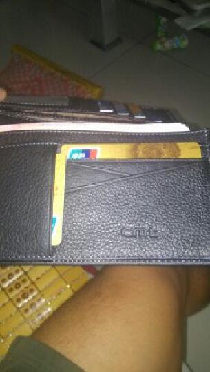 NABOWAN男士钱包手抓包商务休闲手拿包钱夹钱包撞色包皮包 黑色 晒单图