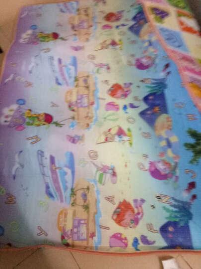 贝雷特 婴儿童宝宝爬行垫加厚2cm爬爬垫子户外野餐垫泡沫沙滩游戏毯 欢乐城堡+水果字母(背面) 1.2m*1.8m*0.5cm双面 晒单图