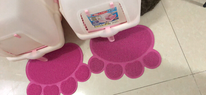 宠物脚垫子洗澡垫 门垫 猫砂盆垫 猫脚垫 玫瑰红色 晒单图