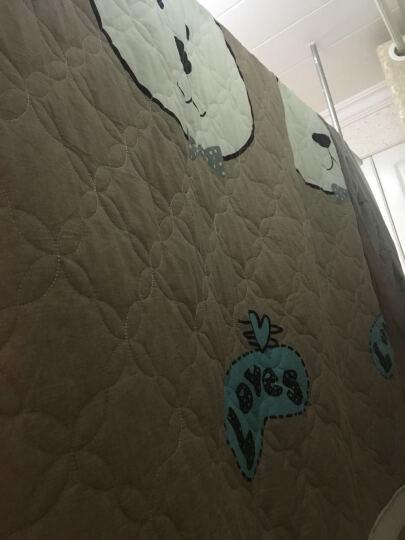 馨窝 床裙单件 加厚夹棉床裙纯棉 儿童卡通床笠式床裙单品 床垫保护套床盖全棉床裙床罩 可配四件套 迷迭香蓝 (单件)1.8*2米床裙 晒单图