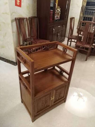 本素(bensu) bensu仿古老榆木实木餐边柜 中式现代收纳储物柜 碗碟柜 玄关柜 A款38*60*90原木色 晒单图