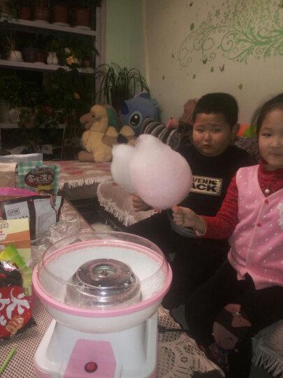 班尼兔 棉花糖机家用儿童全自动彩色商用迷你棉花糖机器 粉红色 晒单图