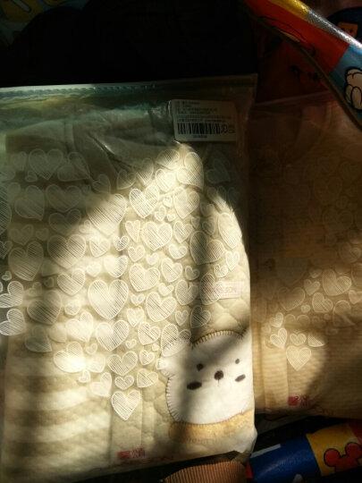馨颂 婴儿彩棉保暖开衫套装新生儿加厚彩棉上衣裤子套装 D064D 天然绿北极熊 73 晒单图