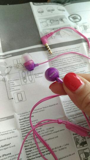 SONY 【全球购】索尼MDR-EX15AP 入耳式手机原装耳机重低音立体声带麦高清耳机 MDR-EX15AP 带麦紫色 晒单图