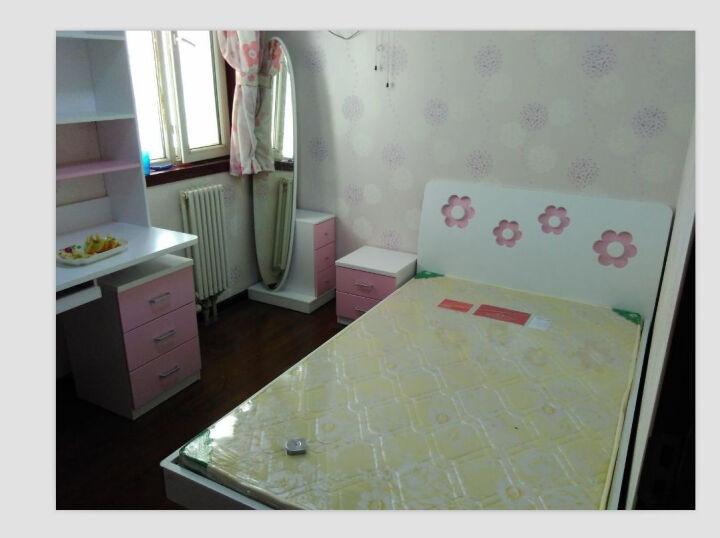 糖果屋 儿童家具5件套装组合 儿童床男孩女孩 1.2米女孩床+三门衣柜+床头柜+书桌+书架 晒单图