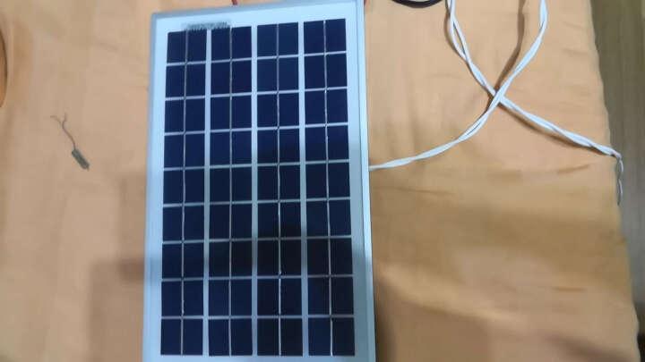 泰恒力 太阳能电池板 10W 多晶硅 家用光伏组件冲12V蓄电池充电 太阳能板发电系统组件 晒单图