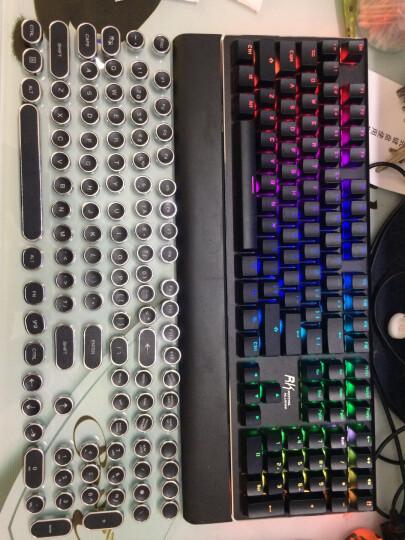 RK ROYAL KLUDGE RK悬浮透光个性定制复古蒸汽朋克游戏网网咖机械键盘按键帽 108颗白色复古朋克透光键帽 晒单图