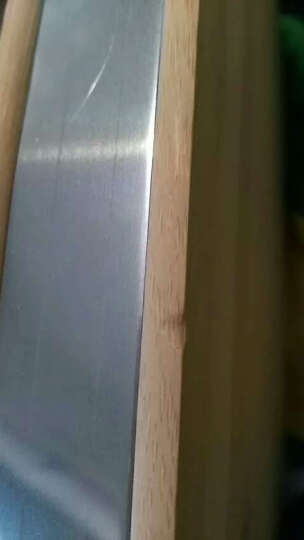 凯洛格 切菜板实木砧板家用竹案板面板大号长方形刀板耐用特厚 特厚不锈钢包边38*28*3.4cm 晒单图