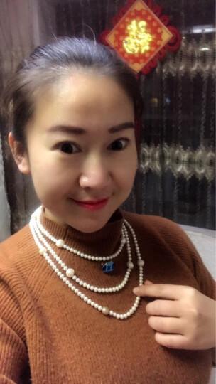 南珠宫 链意淡水珍珠项链长款毛衣链巴洛克椭圆异形珠白色混彩5.0-12.0mm时尚 160cm有扣 晒单图