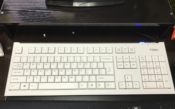 富勒(Fühlen)L400 有线键盘 静音键盘 男女生家用 笔记本电脑办公 象牙白 晒单图