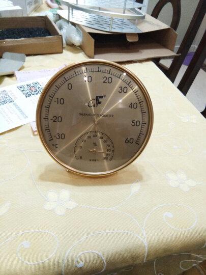 DF德福温度计温湿度计高精度湿度计家用室内 工业实验室挂立温度表不锈钢镀金TH160金至尊 TH160金至尊 晒单图