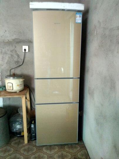 美菱(MeiLing) BCD-220L3BX 220升三门冰箱 金色玻璃 中门软冷冻 晒单图