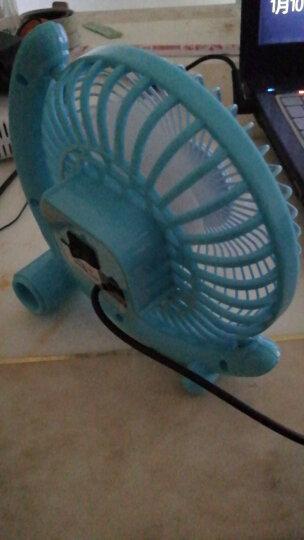 得力(deli)3681 USB迷你静音桌面风扇/小风扇/电风扇/学生宿舍风扇 蓝色 晒单图