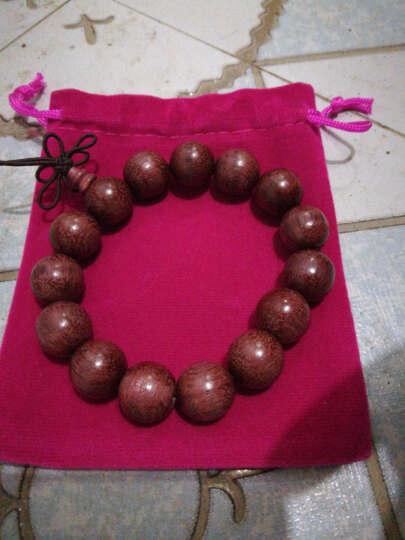 蒂卡妮 紫罗兰佛珠手串 男女款大气时尚苏木玫瑰紫檀手串15MM*15颗 珠子直径15MM 晒单图