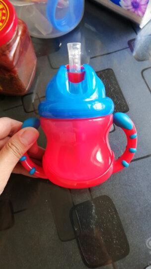 努比(Nuby)儿童吸管杯学饮杯 婴儿训练防漏宝宝水杯240ml红色 美国品牌 晒单图