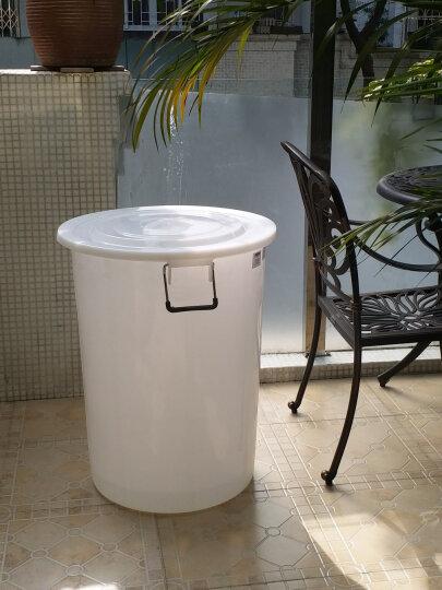 曾师傅 水桶 塑料大号储水桶特大号家用户外物业垃圾桶加厚水桶带盖 白色 160L加厚型带盖 晒单图