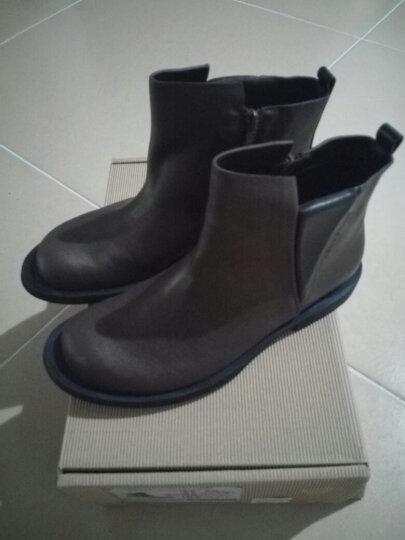 素人原创设计 经典帅气切尔西真皮女短靴 15DWG047 棕红色 39 晒单图