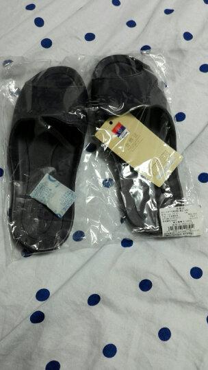 【颜色尺寸随机】富安娜家纺 家居拖鞋塑料可冲凉家居鞋 格调生活 紫色(245) 晒单图