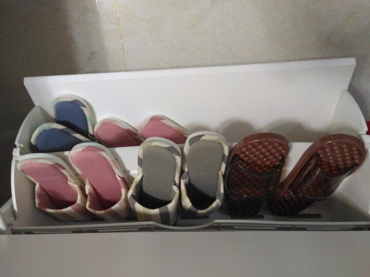 旅行者 日式家用情侣家居亚麻布棉拖鞋男士冬季女夏防滑居家厚底室内地板 咖啡色 42-43适合41-42 晒单图