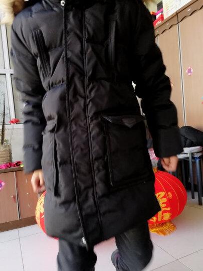 童装女童男童羽绒服儿童羽绒服中长款2017韩版新款正品白鸭绒小中大童学生男孩加厚3-16岁 YRF224黑色 150码(建议身高140cm) 晒单图