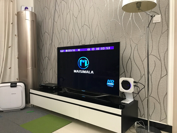 壁挂式CD播放机蓝牙HDMI播放机高清CD机VCD儿童学习DVD光盘专辑播放器影碟机U盘音乐播放机 M39白色+电视+蓝牙DVD/CD一体机+钢制支架 晒单图