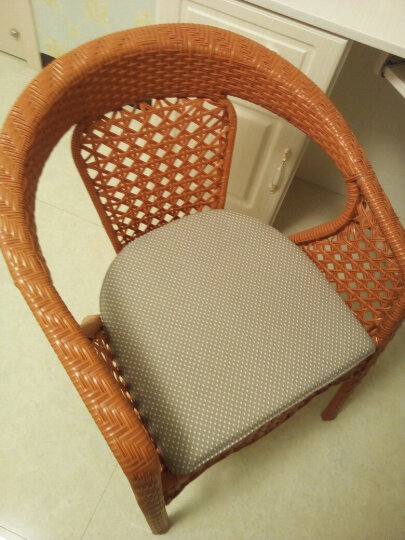 硬质棉坐垫椅垫 餐桌椅子坐垫 梯形温莎椅垫 灰点马蹄垫 41*45cm 晒单图