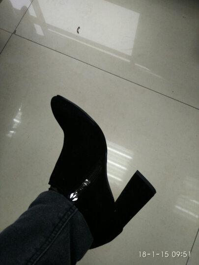 Senda/森达秋季专柜同款时尚优雅气质绒面女高跟鞋VAL20CM7 灰紫色 37 晒单图